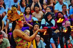 Danza de Kecak Imagen de archivo