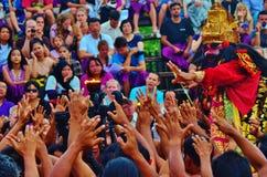 Danza de Kecak Imagen de archivo libre de regalías