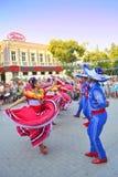 Danza de la calle de los mexicanos Fotografía de archivo libre de regalías
