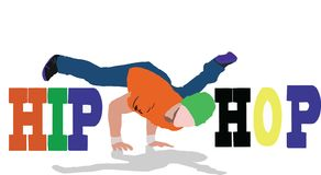 danza de la calle de hiphop stock de ilustración