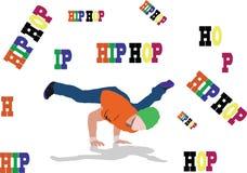 danza de la calle de hiphop ilustración del vector
