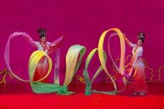 Danza de la cinta Foto de archivo libre de regalías