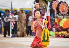 Danza de la demostración de Laos de la máscara Imagen de archivo