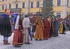Danza de la Edad Media Fotografía de archivo libre de regalías