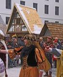 Danza de la Edad Media Fotos de archivo libres de regalías