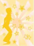 Danza de la estrella Foto de archivo libre de regalías