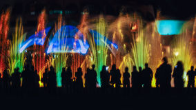 Danza de la fuente Fotos de archivo