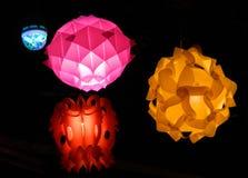 Danza de la luz en el tiempo de Diwali Foto de archivo