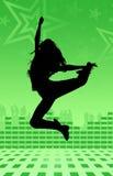 Danza de la muchacha del disco Fotografía de archivo