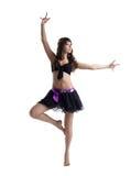 Danza de la mujer en el traje atractivo aislado Imagenes de archivo