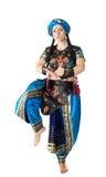 Danza de la mujer en traje árabe Foto de archivo