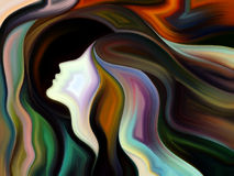 Danza de la pintura interna ilustración del vector