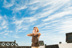 Danza de la yoga Imagen de archivo