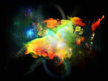 Danza de las nebulosas del diseño Fotografía de archivo