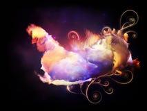 Danza de las nebulosas del diseño Imagen de archivo libre de regalías