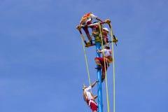 Danza de los voladores, Messico, caraibico Fotografia Stock Libera da Diritti