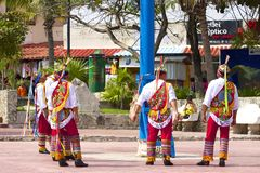 Danza de los voladores, Mexico, Caribbean Royalty Free Stock Image