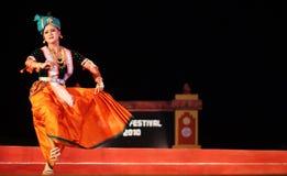 Danza de Manipuri en el festival 2010 del konark Foto de archivo libre de regalías