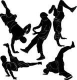 Danza de rotura de Breakdance Imágenes de archivo libres de regalías