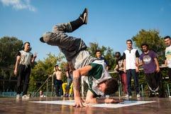 Danza de rotura del artista Imagen de archivo libre de regalías
