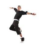 Danza de rotura del baile del adolescente en la acción Fotografía de archivo libre de regalías