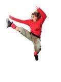 Danza de rotura del baile del adolescente en la acción Fotografía de archivo