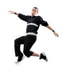 Danza de rotura del baile del adolescente en la acción Foto de archivo libre de regalías