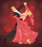 Danza de salón de baile. ilustración del vector