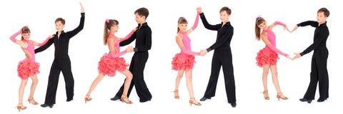 Danza de salón de baile del baile del muchacho y de la muchacha Imagen de archivo