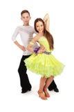 Danza de salón de baile del baile del muchacho y de la muchacha Foto de archivo libre de regalías