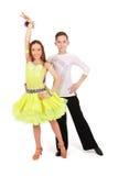 Danza de salón de baile del baile del muchacho y de la muchacha Fotografía de archivo