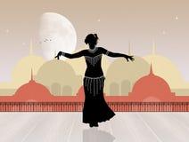 Danza de vientre oriental Fotografía de archivo
