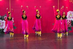 Danza de Xinjiang Fotografía de archivo libre de regalías