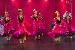 Danza de Xinjiang Imagenes de archivo