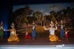 Danza del apsara del Khmer Imagen de archivo libre de regalías