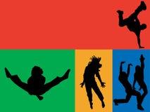 Danza del arco iris stock de ilustración