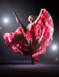 Danza del baile de la muchacha fotos de archivo libres de regalías