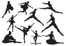 Danza del ballet stock de ilustración