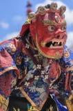Danza del Cham en el festival, la India Fotos de archivo libres de regalías