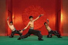Danza 4 del chino Foto de archivo libre de regalías