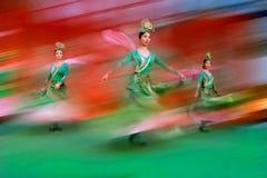 Danza 5 del chino Imagen de archivo libre de regalías