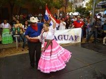 Danza del cortejo de Paraguay Fotografía de archivo