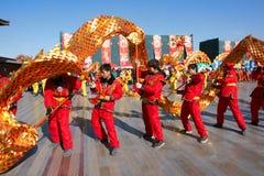 Danza del dragón Fotografía de archivo libre de regalías