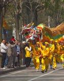 Danza del dragón Imágenes de archivo libres de regalías