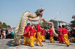 Danza del dragón Fotos de archivo libres de regalías