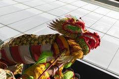 Danza del dragón y de león Imágenes de archivo libres de regalías