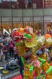 Danza del dragón y de león Fotos de archivo