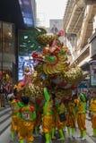 Danza del dragón y de león Foto de archivo libre de regalías