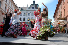 Danza del flamenco Fotos de archivo libres de regalías
