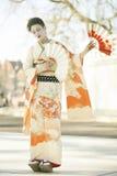 Danza del geisha Foto de archivo
